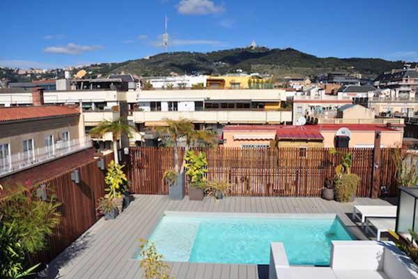 terraza Sant Gervasi piscina