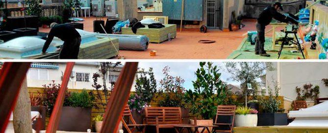 creación de jardines y terrazas
