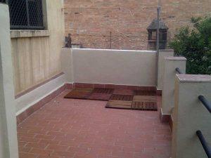 patio pequeño Barcelona antes