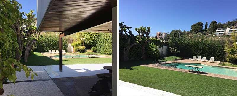 jardinería instalación césped con tepes