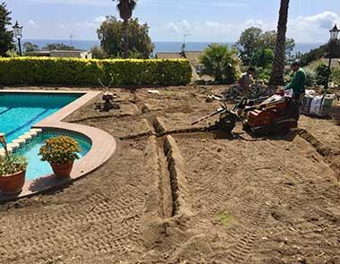 jardí Maresme colocació sistema reg