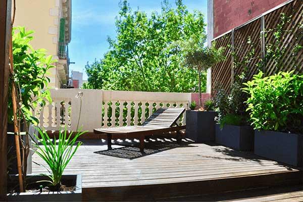 diseño de terraza en Gracia