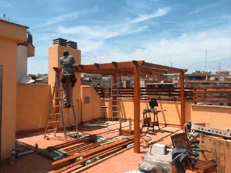 construcció de terrasses