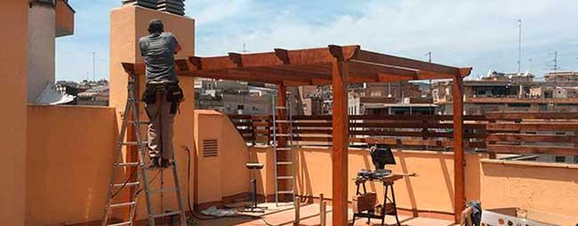 construcción terraza Barcelona
