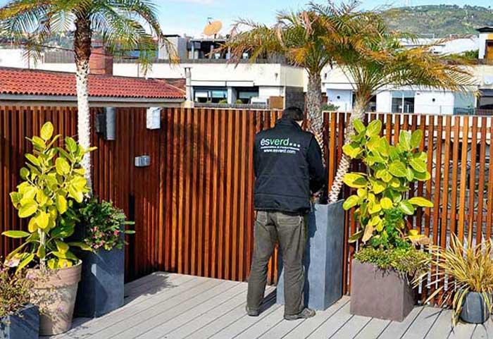 mantenimiento de terrazas en Barcelona
