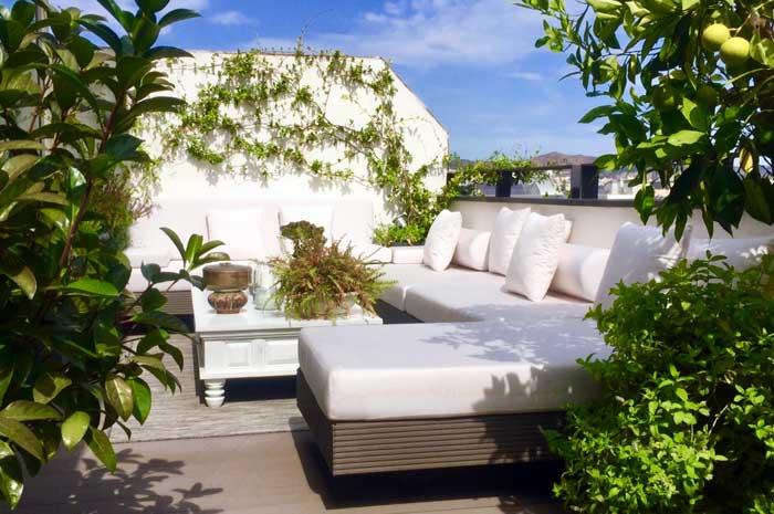 diseño terraza Poble Nou