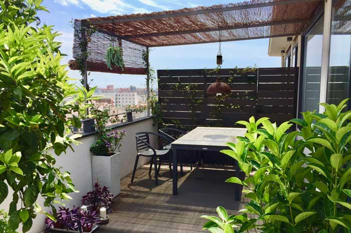 terrassa al Poble Nou